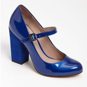 """Vince Camuto Vionet patent and suede 4"""" heel"""